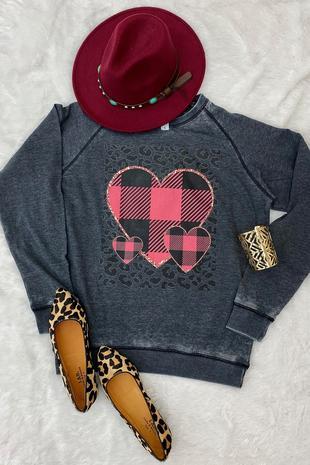 LBL PLAID HEART