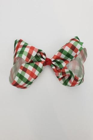 xmasplaid bow