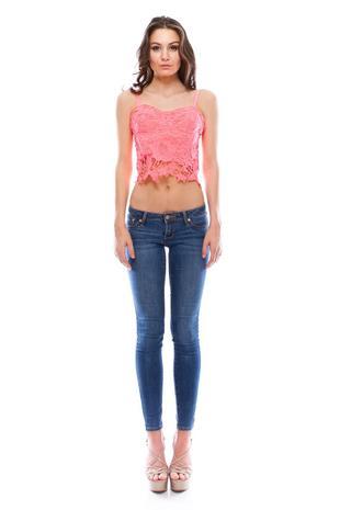 VOKT1682-Lace crochet top